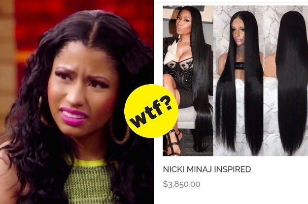 a wig company tried to sell quotnicki minajquot wigs for 3850
