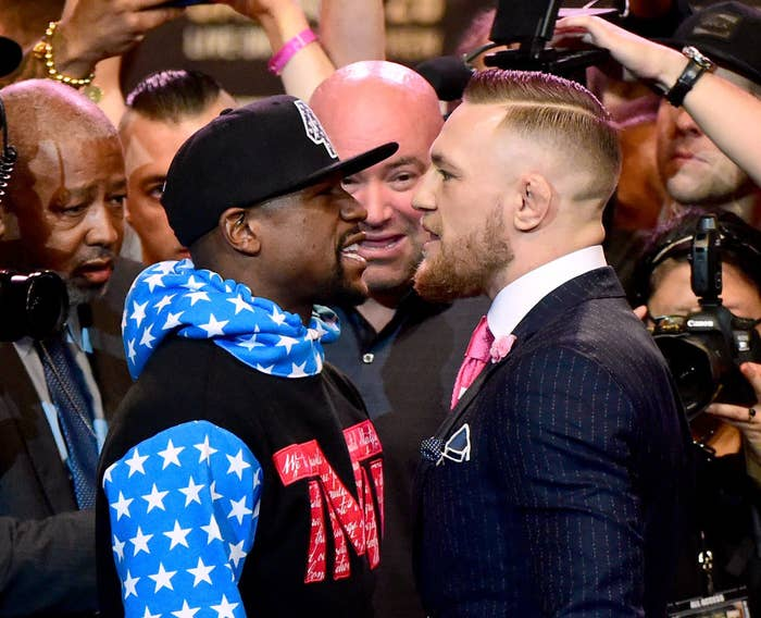 891728eb6b7 It was recently announced that McGregor would compete in a boxing match  against Floyd Mayweather on 26 August. I guess you could say that is also a  big