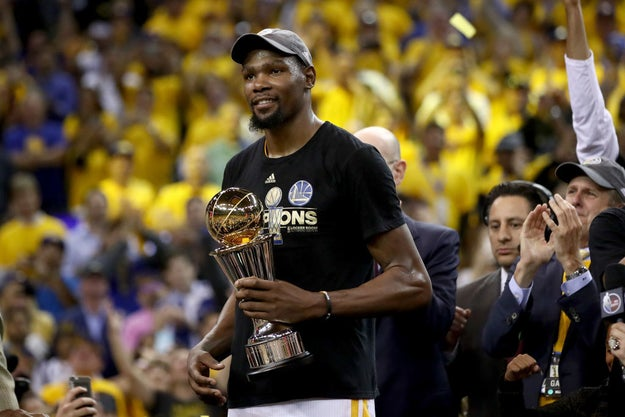 But the highlight of the night came at the expense of Golden State Warriors Forward and 2017 NBA Finals MVP, Kevin Durant.