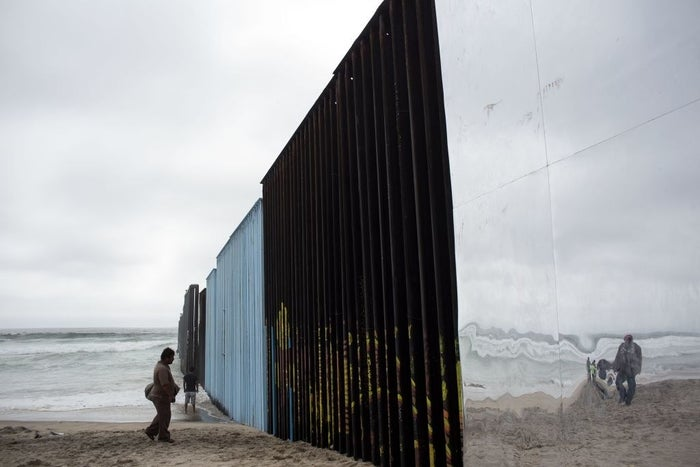 A view from the Mexican side of the US–Mexico border in Playas de Tijuana, Mexico, in 2017.