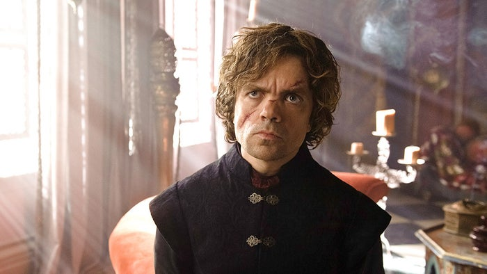 The theory: Tyrion is actually the son of Daenerys and Khal Drogo, and was transported back in time by the Dothraki witch, Mirri Maz Duur, and delivered by Joanna Lannister. Tyrion will go on to marry Daenerys — his own mother — in a parallel to the Greek tragedy of Oedipus.Andy: Listen, I'm not gonna sit here and pretend that this theory is even remotely close to likely. But I have to commend the Redditor who came up with it, because it's not only creative but kind of ironclad in its own twisted logic. 0/10Jenna: This is definitely the most ~creative~ Game of Thrones theory I've ever read. But lol, no. 0/10Likelihood: 0/10