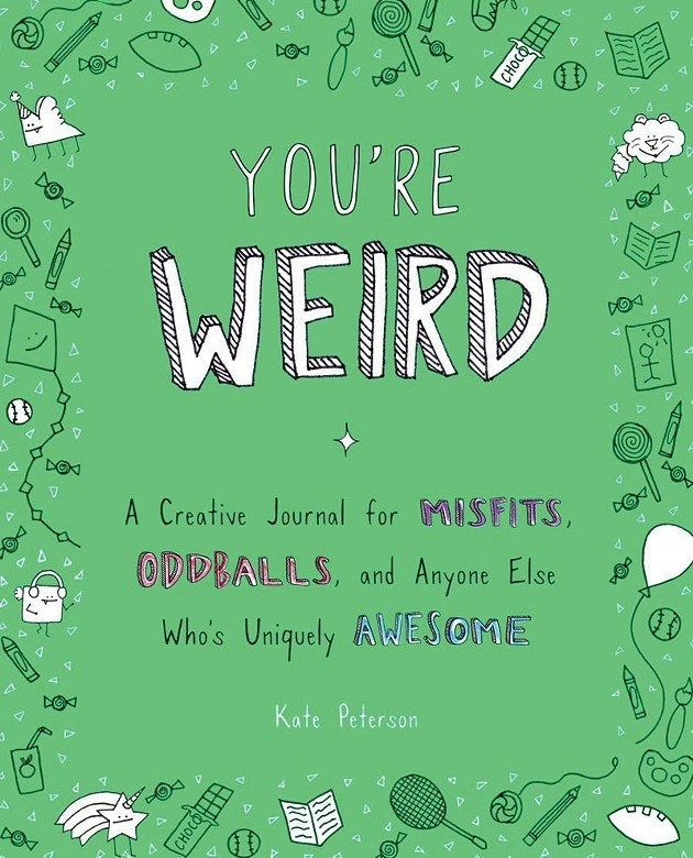 "Get it from Amazon for $15.98.Promising review: ""A lot of fun! Unlike your typical journal, You're Weird has a lot of fun drawings, questions, and activities that help inspire and prod you to keep journaling. Every page is full of fun drawings and borders that are ripe for coloring when cutting loose after an hour-long strategy meeting. I got a copy at our local bookstore and plan on ordering another copy just for coloring. I'm sure even seasoned journal keepers will enjoy this book."" —Jay Saenz"