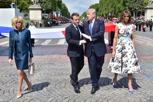 President Trump and the first lady spent Thursday and Friday in Paris to mark Bastille Day, France's national holiday. The trip, which came at the invitation of French President Emmanuel Macron, also marked 100 years since US forces entered World War I.