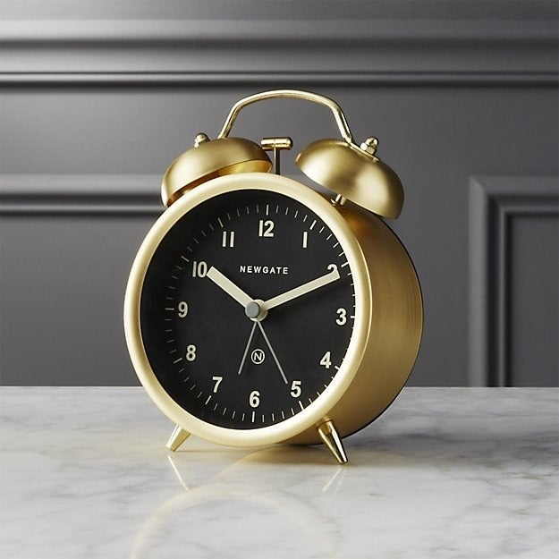 Even if you don't use this clock for its alarm, its swanky design makes for great decor.Get it on CB2 for $29.95.