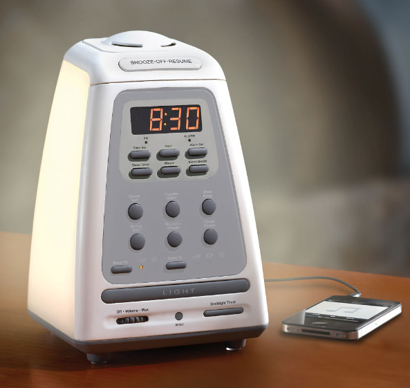 25 alarm clocks you actually won 39 t hate seeing in the morning. Black Bedroom Furniture Sets. Home Design Ideas