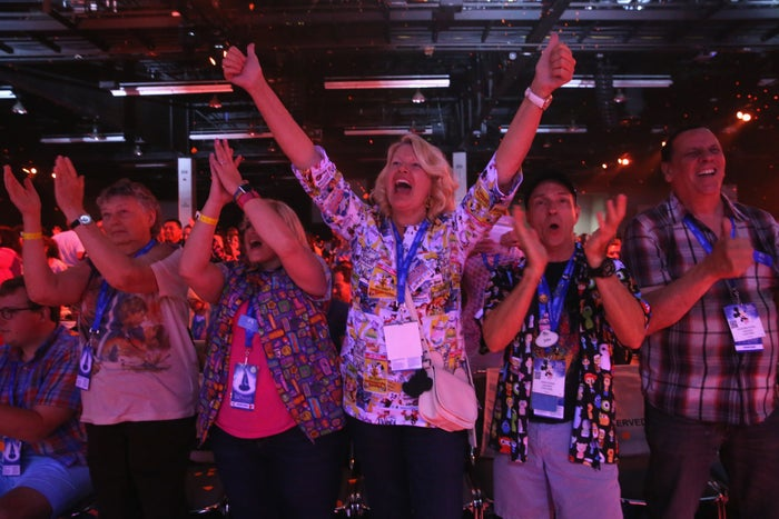 Audience members at Disney's D23 Expo 2017 in Anaheim, Calif.