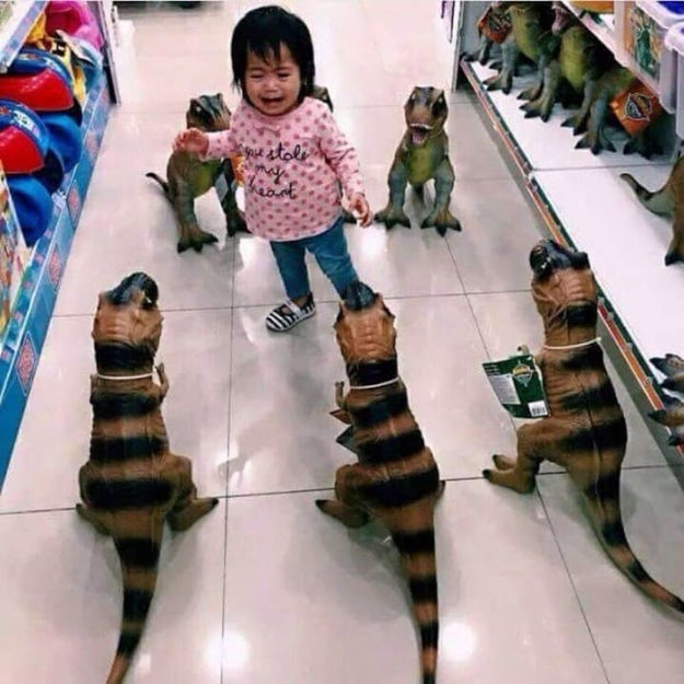 And this kid won't be clamoring to go to Jurassic Park any time soon: