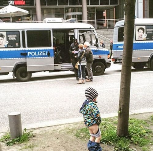 Meanwhile, you've got a kid like this, who doesn't give a fUuUuUck about the police: