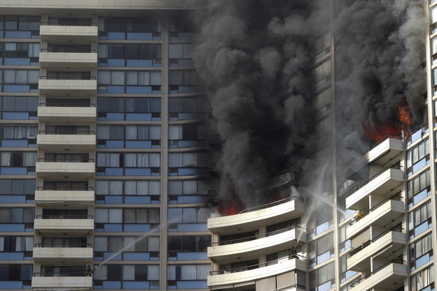 The blaze, first reported on the 26th floor of the building at 2:15 p.m., later spread to the 27th and 28th floors, officials said. The three victims were found on the 26th floor.