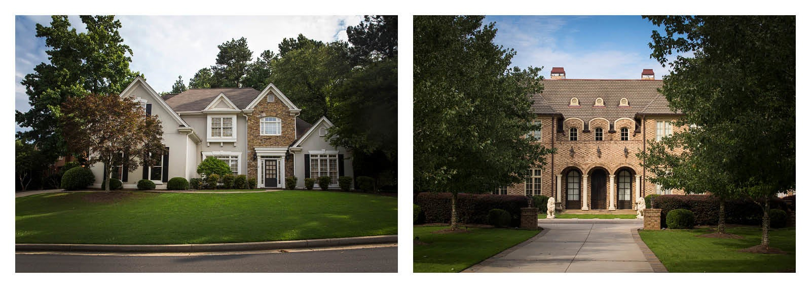 Two of R. Kelly's rental properties near Atlanta.