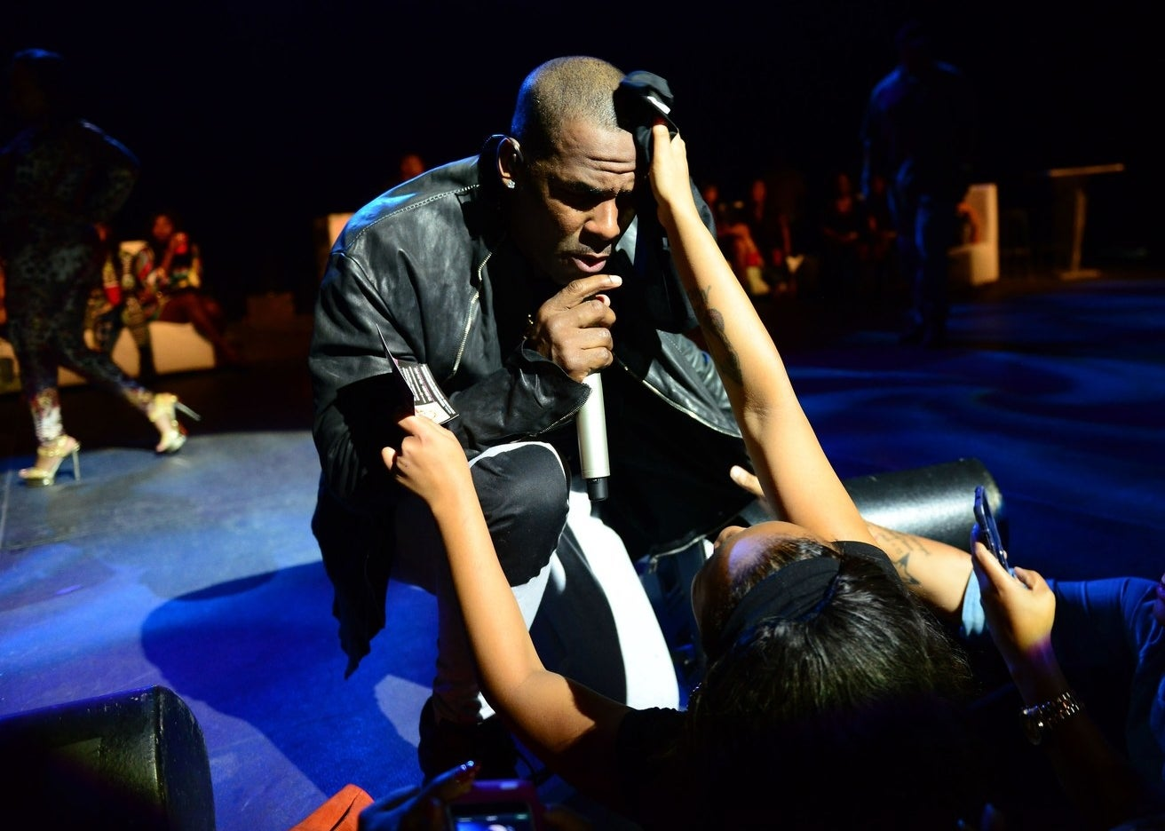 R. Kelly performing at the James L. Knight Center on Oct. 17, 2013, in Miami.