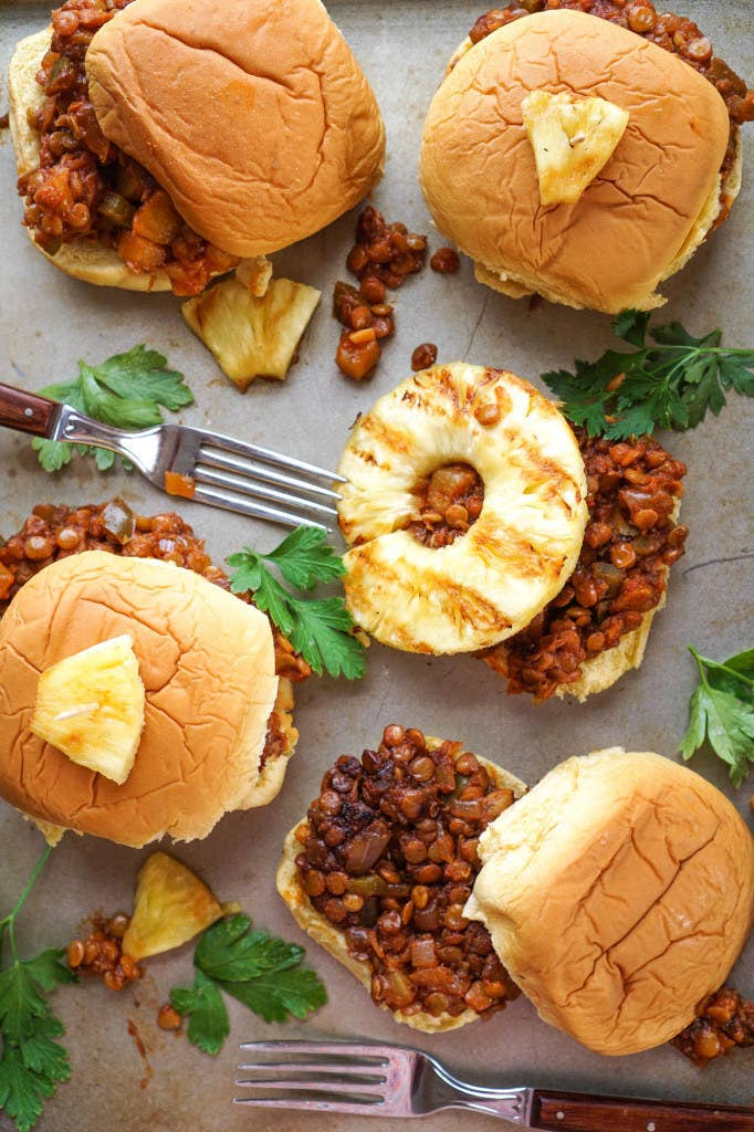 This childhood comfort food gets a makeover: Pineapple, soy sauce, tomato sauce, brown sugar, and apple cider vinegar gives these lentil sloppy Joes a salty-sweet taste that'll leave you wanting more. Get the recipe.