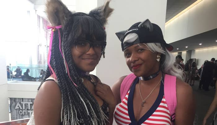 J'aira and Ahja Brown at Anime Expo this year.