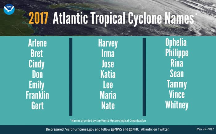 Tropical cyclone names are created years in advance by the World Meteorological Organization, and Don was added to the list by the National Hurricane Center back in 2006 — long before Donald Trump entered the race for president.