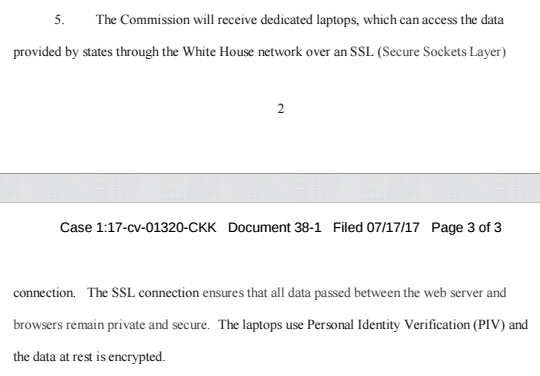 Then, per Herndon, here is how he is planning on the commission getting access to the data: