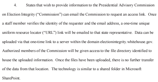 First, here's the way the commission, per Herndon, plans to have the states submit data: