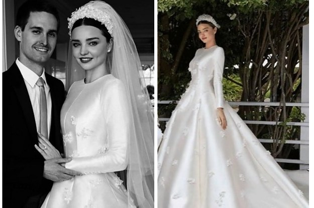 Miranda Kerr Wedding Dress.Miranda Kerr Shared Her Wedding Photos And Wow The Dress