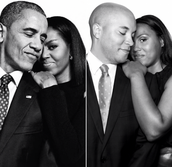 """""""As African-Americans we admire their achievements and what they represent,"""" Pittman told Huffington Post. """"They have a love that just shines, and we wanted to capture that love in our photos."""""""