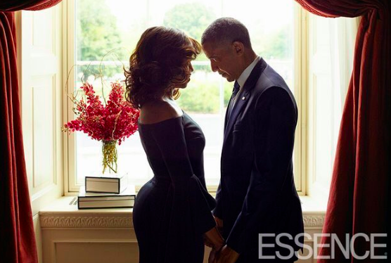 It should! It's an almost perfect recreation of this photo of the Obamas from Essence's October issue.