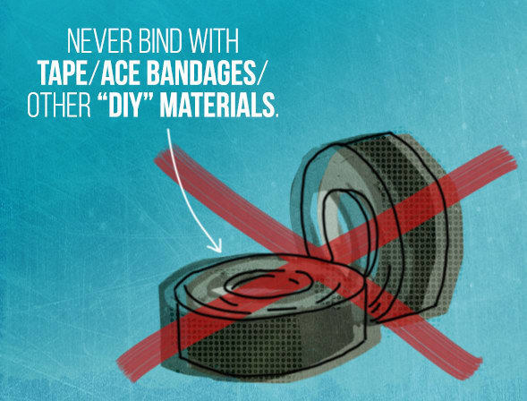 And as tempting as it is to do so, you should never DIY a binder for yourself.