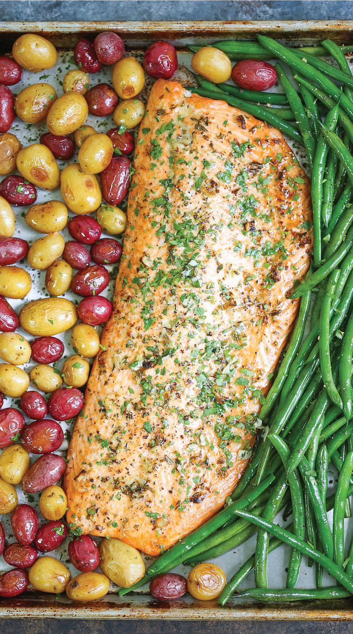 Because salmon is the true MVP of sheet pan dinners. Get the recipe here.