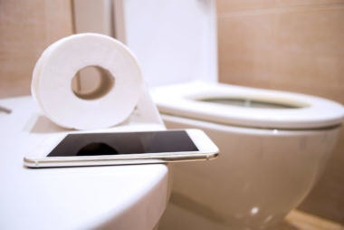Your phone has been everywhere in the bathroom, even sometimes accidentally the toilet. Oops!