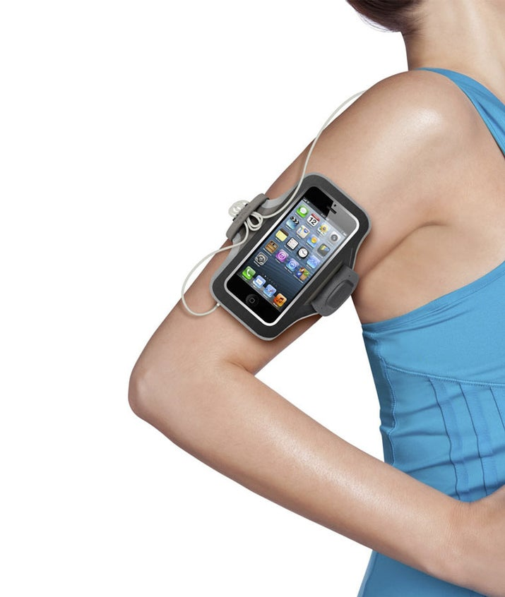 Instead of pockets, you can buy one of these nifty armbands, that turn your arm into a sweat fest.