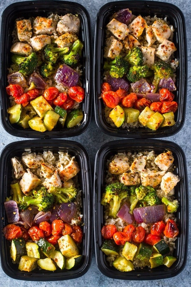 Roasted Chicken and Rainbow Vegetables