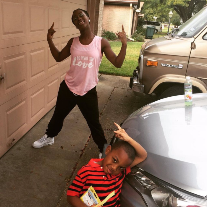 """In June, the siblings were getting pizza when one of Naja's friends asked her a question on Snapchat.She asked Dellivon to say """"no"""" in response, she told BuzzFeed News. At first, he said it pretty quietly, so """"being the annoying but yet loving sister I am,"""" she asked him to say it louder."""