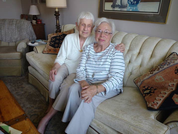 Marie Stapp, left, and Geraldine Robertson, right.