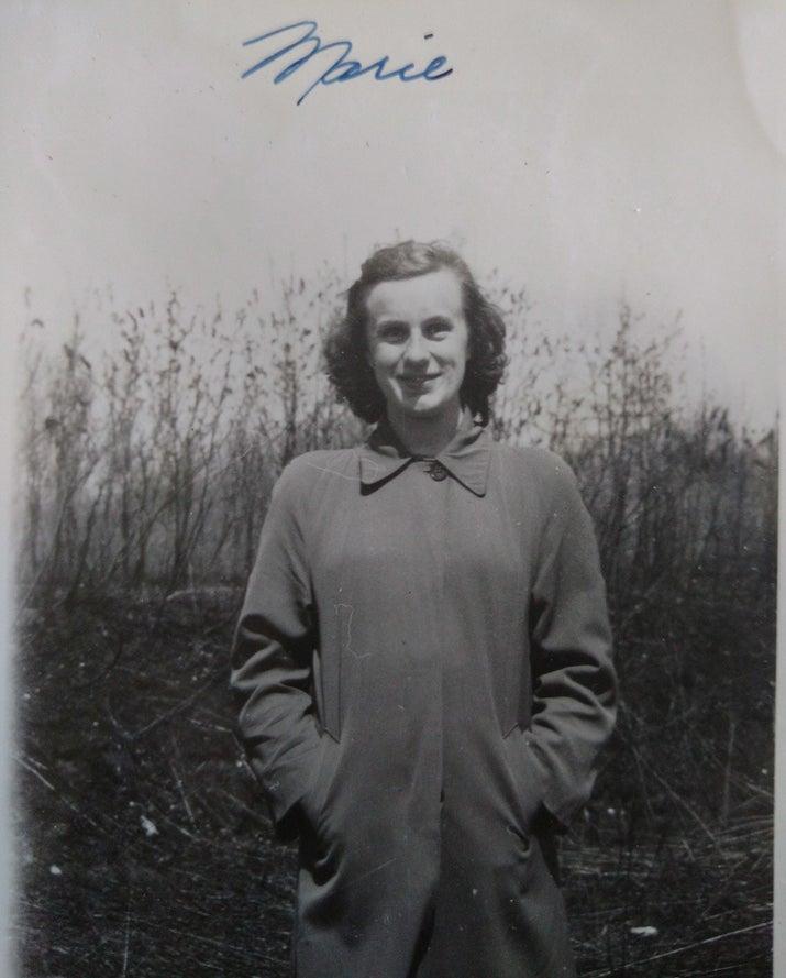 Stapp on the Mount Elgin school grounds in 1946