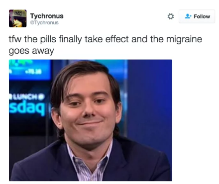 If we could take only one item to a desert island, it would be our migraine meds.