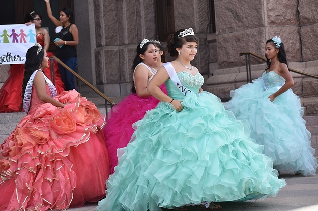 c880d16e716 Teens Wore Quinceañera Dresses To Protest Texas  Immigration Law