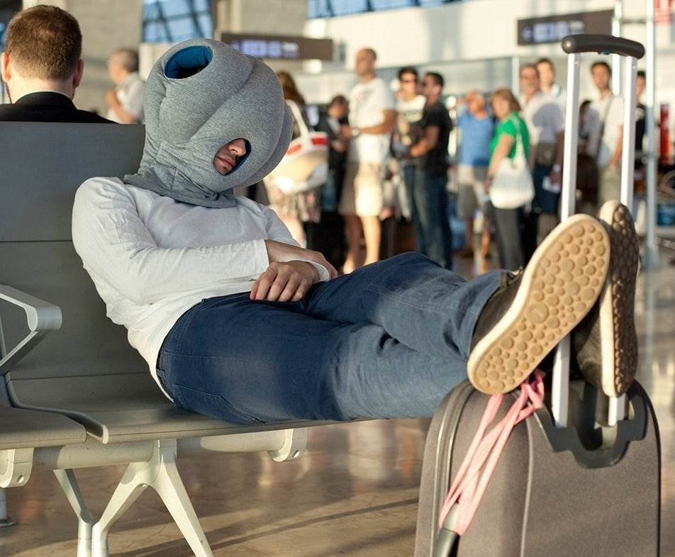 "Promising review: ""I nap everywhere. I use this on the plane all the time. Sure, I get weird looks, but I can't tell because I am asleep. Works much better than a headrest pillow for me. It is bulkier than your average pillow, but I can still fit this in my carry on."" —Amanda BondGet it from Amazon for $88."