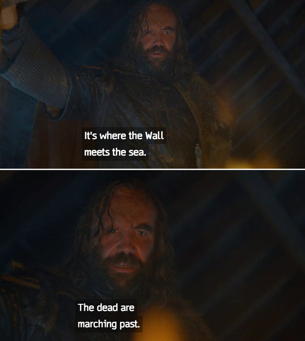 If you watched the Season 7 premiere of Game of Thrones, you know that the Hound saw something ~interesting~ in the fire.