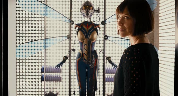 "In one of Ant-Man's post-credits scene, Hope's father, Dr. Hank Pym (Michael Douglas), bestows her with a brand-new Wasp costume. ""If we're fortunate enough to do a sequel to Ant-Man, it's safe to say that Wasp would be a very big part of that story,"" Ant-Man director Peyton Reed told BuzzFeed News's Jarett Wieselman at the time of the movie's release. Reed is returning to direct the sequel, which was written by Rudd, Andrew Barrer, and Gabriel Ferrari."