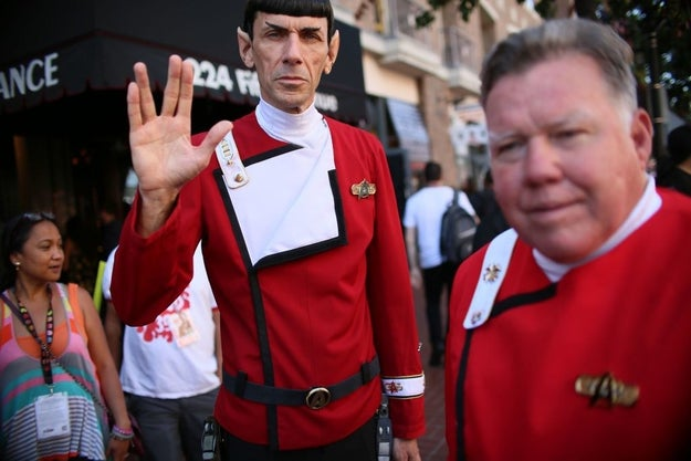 A very realistic Spock and Kirk:
