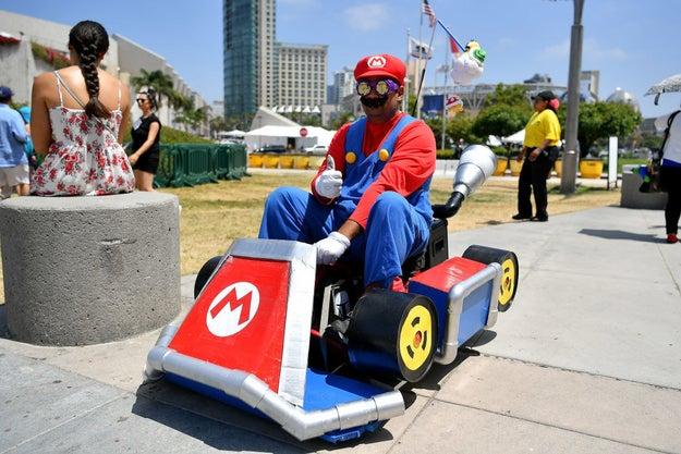 Mario and his Mario Kart: