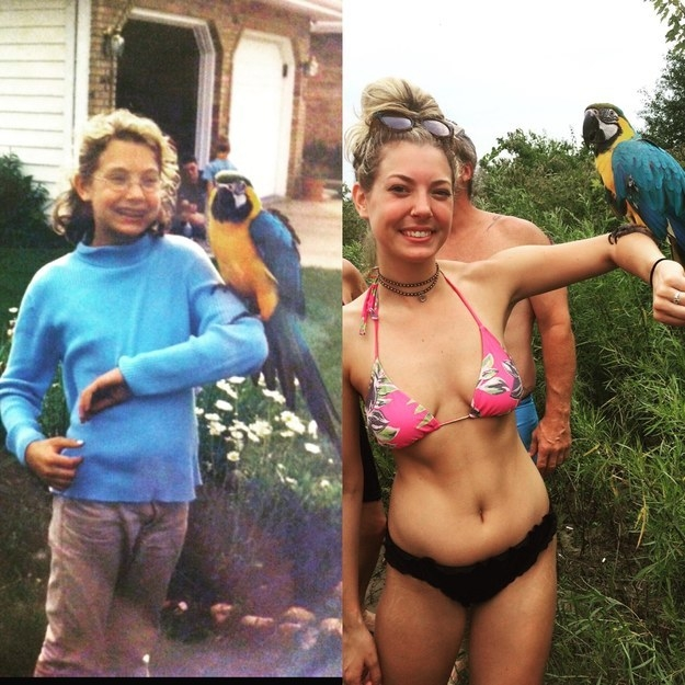 This woman who still loves parrots: