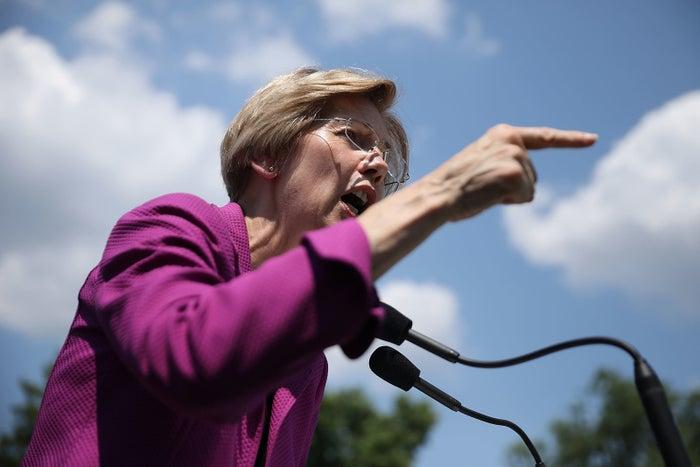 Sen. Elizabeth Warren at a rally outside the U.S. Capitol July 19, 2017 in Washington, DC.