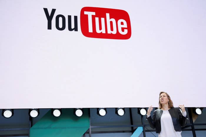 YouTube CEO Susan Wojcicki speaks during the annual Google I/O developers conference on May 17, 2017