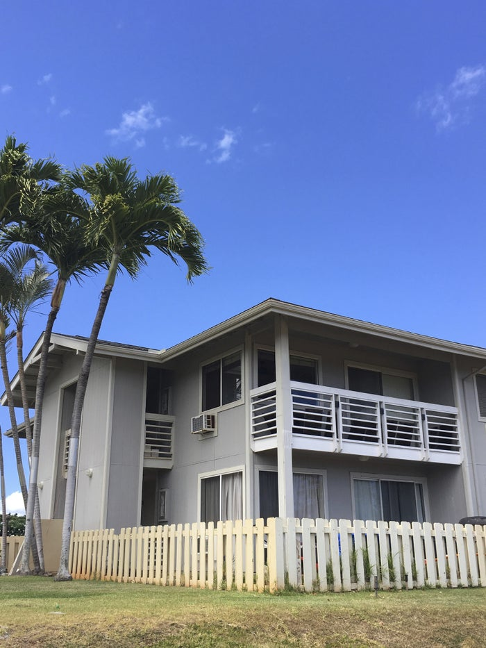 The exterior of the condo complex where Ikaika Kang, a sergeant first class in the U.S. Army, lives in Waipahu, Hawaii.