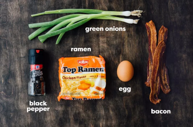 The quickest (and tastiest) way to amp up inexpensive Top Ramen? Toss in a few strips of bacon and green onions for crunch — then add an egg on top. Get the recipe.