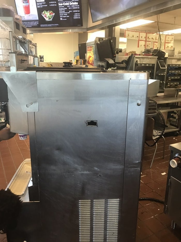 """""""I tried to clean the machine after I spilled it, so I pulled [the trays] out from the side,"""" he said."""