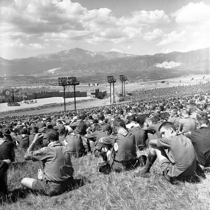 The National Boy Scout Jamboree near Colorado Springs, Colorado in 1960.