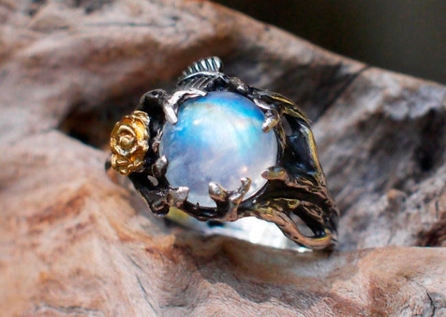 """Promising Review: """"This ring is so beautiful! It was shipped early and I was able to track it on it's way here. Customer service was great!"""" —Alycia Get it from Black Tree Lab on Etsy for $105+ (available in sizes 3-13)."""