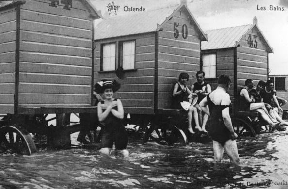 It was all about modesty back in the 1800s and 1900s, and it was thought that women should not be seen in their bathing suits on land at all. Enter the bathing machine, a private place for them to slim into something more swimmable and avoid the prying eyes of fellow beachgoers.