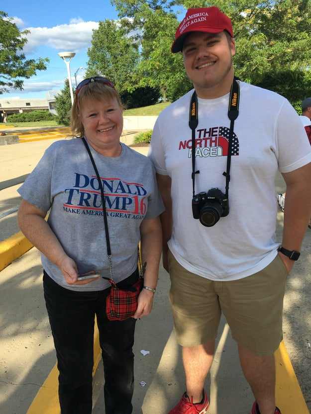 Another supporter, Tracy, said she has no complaints about what the president has done so far in his first term.
