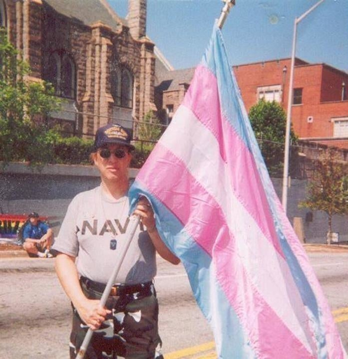 Monica Helms, trans veteran and creator of Trans Pride Flag