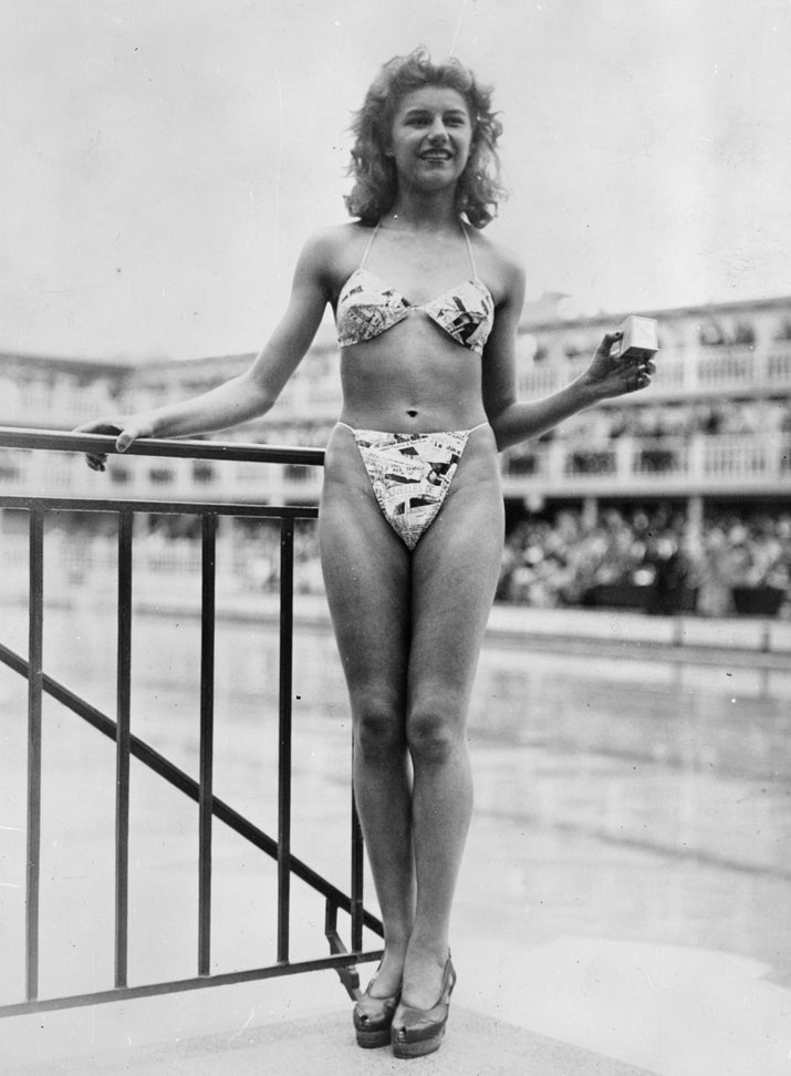 The design was so jaw-dropping that no self-respecting model or actress would agree to wear it — none, that is, except for French nude dancer Micheline Bernardini. She agreed to wear Réard's creation in public, and held a matchbox as she did so to indicate that the bikini was so small it could fit inside a matchbox.